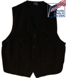 Black Denim Western Vest